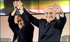 صورة السيد عبد العزيز بوتفليقة رفقة الرئيس الأسبق اليمين زروال