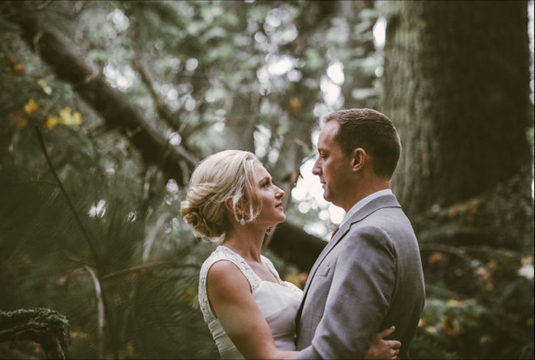 Robert and Kate wed at South Whidbey State Park- Patricia Stimac, Seattle Wedding Officiant