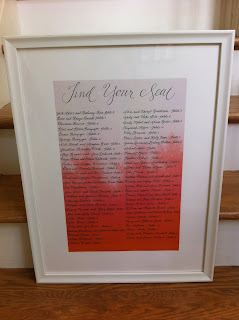 custom calligraphy wedding seating chart