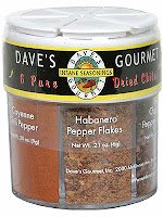 Dave's Gourmet dried chili pepper powder