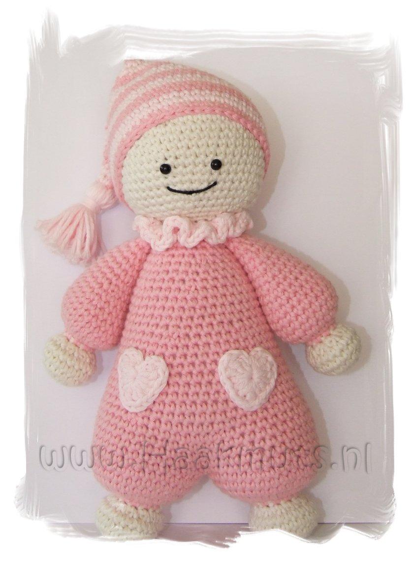 Amigurumi Baby Haakpatroon : Haakmuts: Cuddly-baby