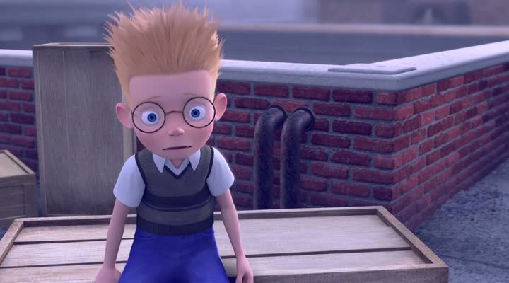 Screen Shot Of Meet the Robinsons (2007) Dual Audio Movie 300MB small Size PC Movie