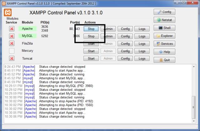 Cara membuat database di CMD dan Xampp
