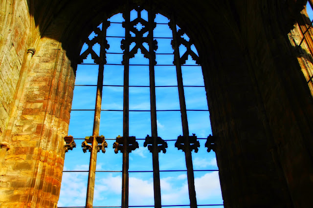 Melrose Abbey Window