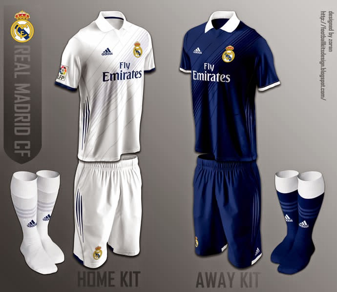 ... +JERSEY+KIT+REAL+MADRID+HOME+AWAY+THIRD+OFFICIAL+ADIDAS+2015+2016