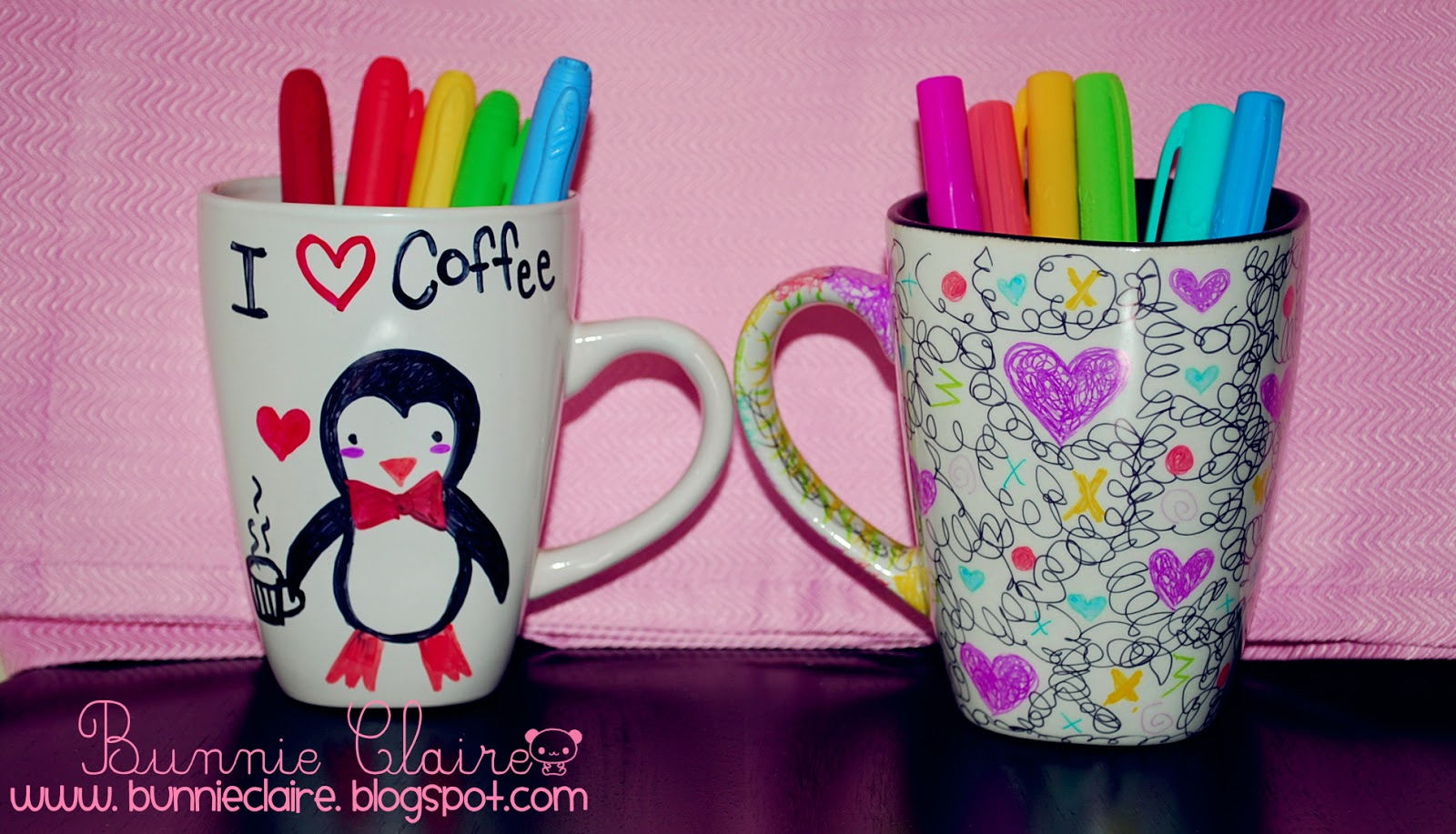 Decorate Ceramic Mugs With Sharpies Click Here