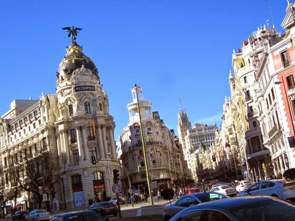 Edificio Metropolis en la Gran Via de Madrid