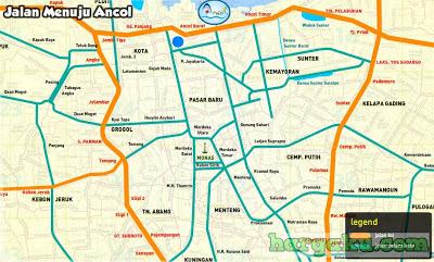 Peta Menuju ANCOL