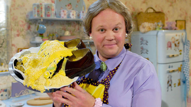 Justin Fletcher as Dina Lady in Gigglebiz