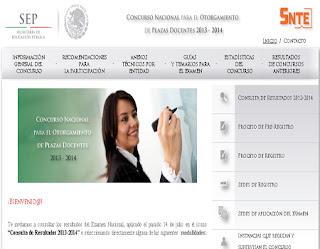 La sep publica los resultados del concurso nacional por for Concurso para plazas docentes