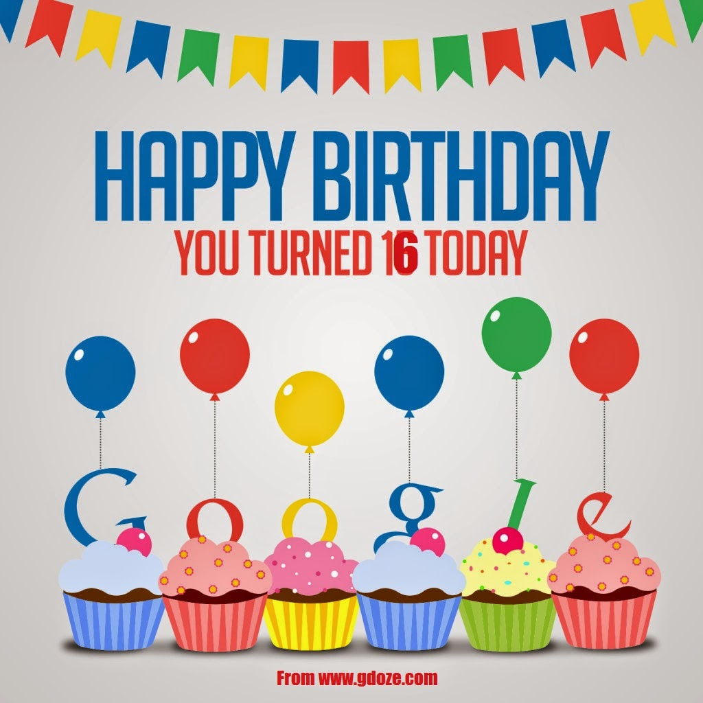 HAPPY BIRTHDAY TO YOU GOOGLE,16TH BIRTHDAY,DOODLE,27TH SEPTEMBER,
