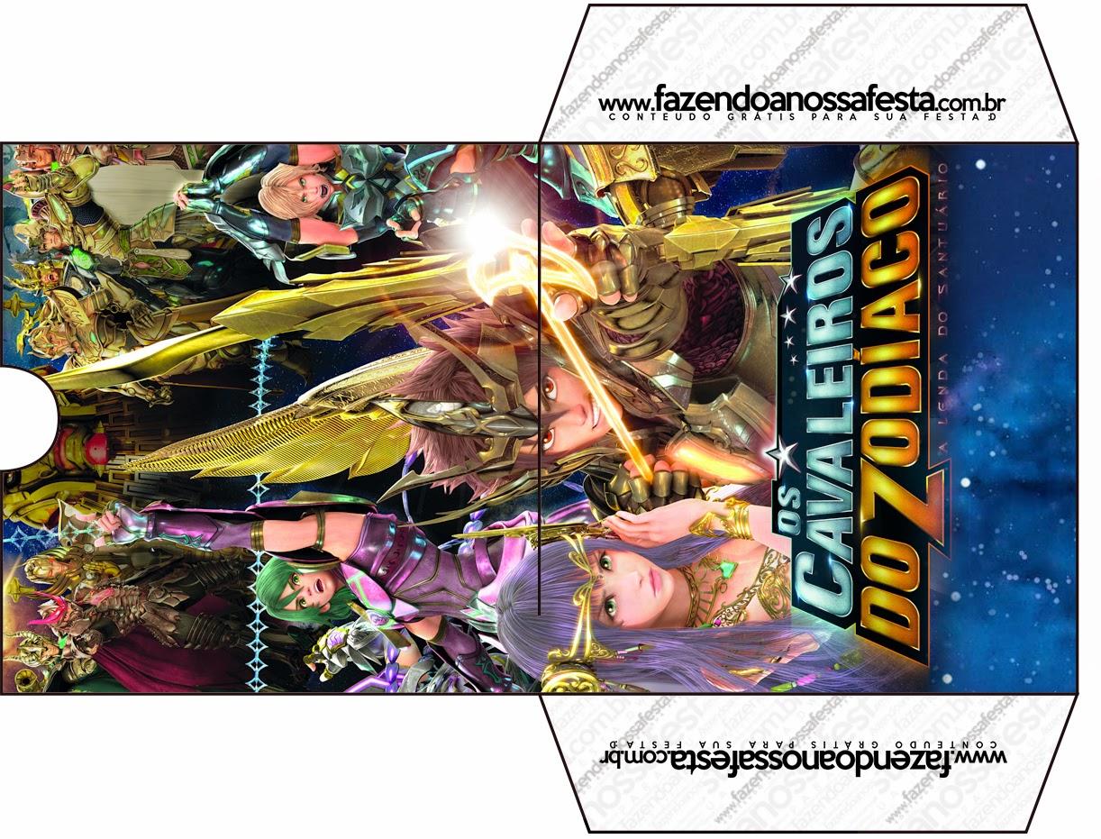 Funda de Caballeros del Zodiaco para CD's para imprimir gratis.