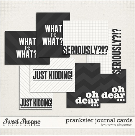 Just Kidding journal cards
