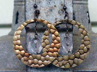 recycled assemblage earrings