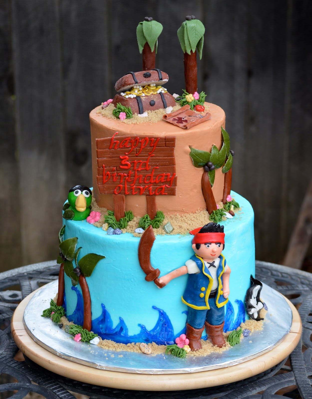 jake and the neverland pirates tiered cake - photo #3