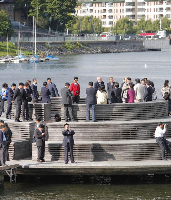 Hammarby Sjöstad i Stockholm: asiatiskt studiebesök.