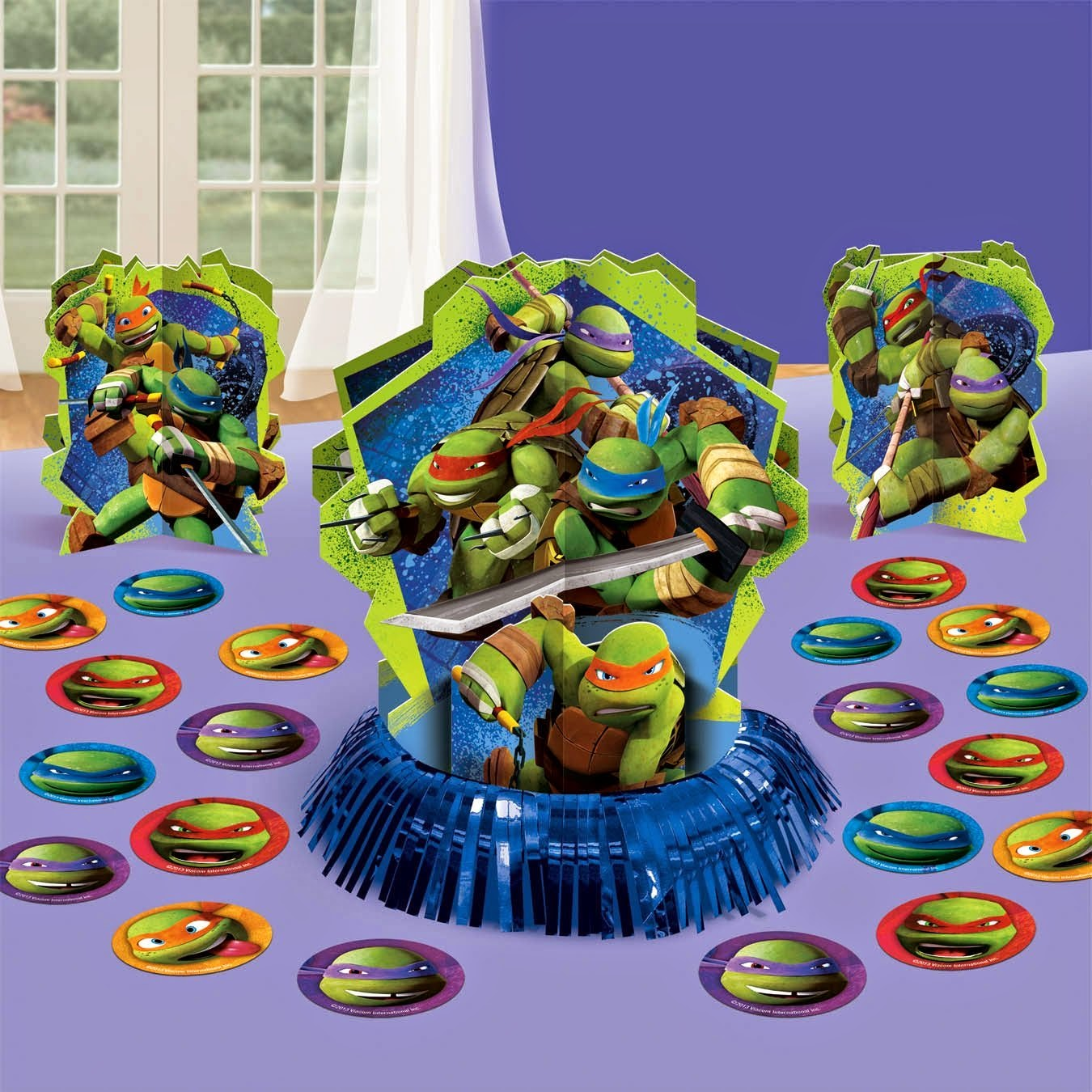 Teenage mutant ninja turtles themed birthday party for Tmnt decorations