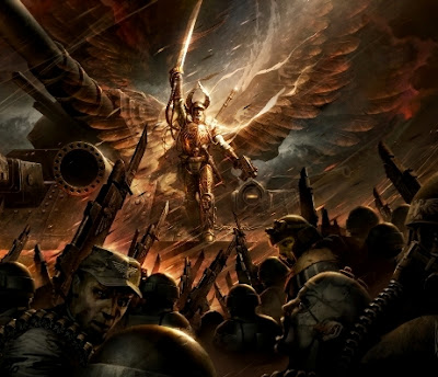 New artwork from the black library angel of fire faeit 212 to kick these off we bring you raymond swanlands art for the first macharian crusade novel by william king angel of fire fandeluxe Gallery