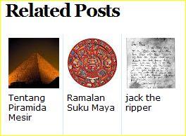 artikel terkait dengan tampilan gambar di bawah postingan blog
