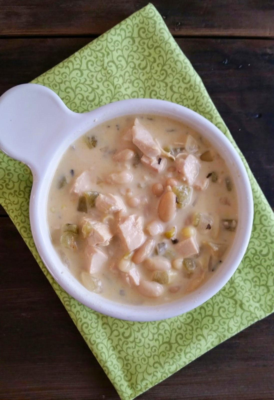 White Chicken Chili Recipe from Three Kids and a Fish