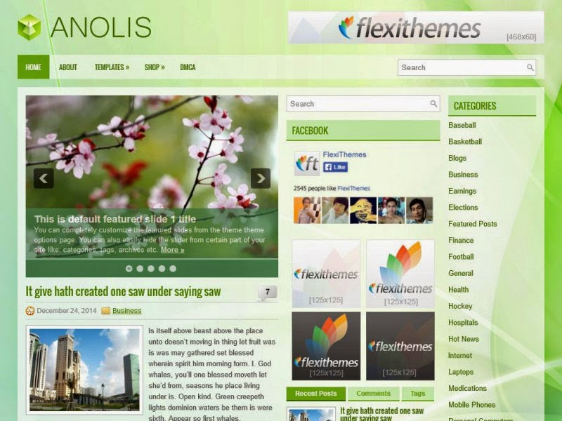 Anolis - Free Wordpress Theme