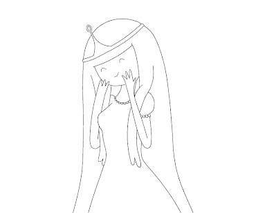 #13 Princess Bubblegum Coloring Page