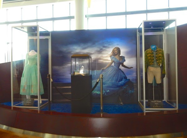 Cinderella movie costume display