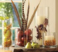 decoración con frutas y verduras