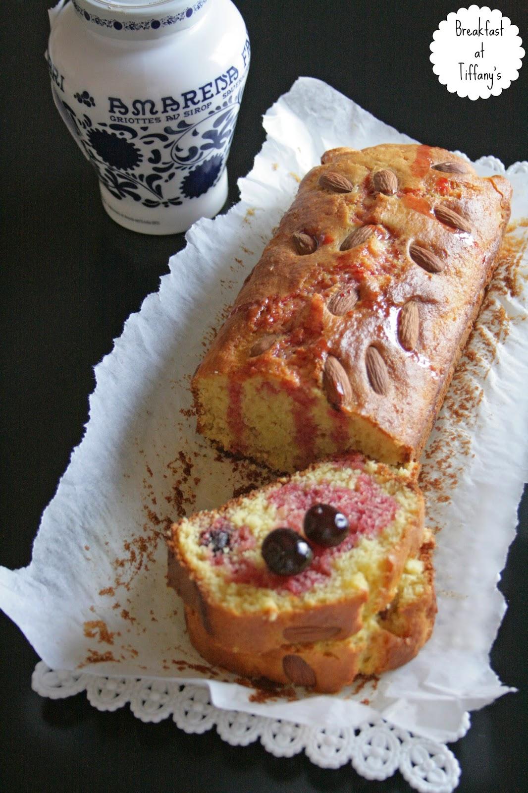 la torta dei 12 cucchiai con mandorle e amarene fabbri / the 12 tablespoons cake with almonds & dark cherries by fabbri