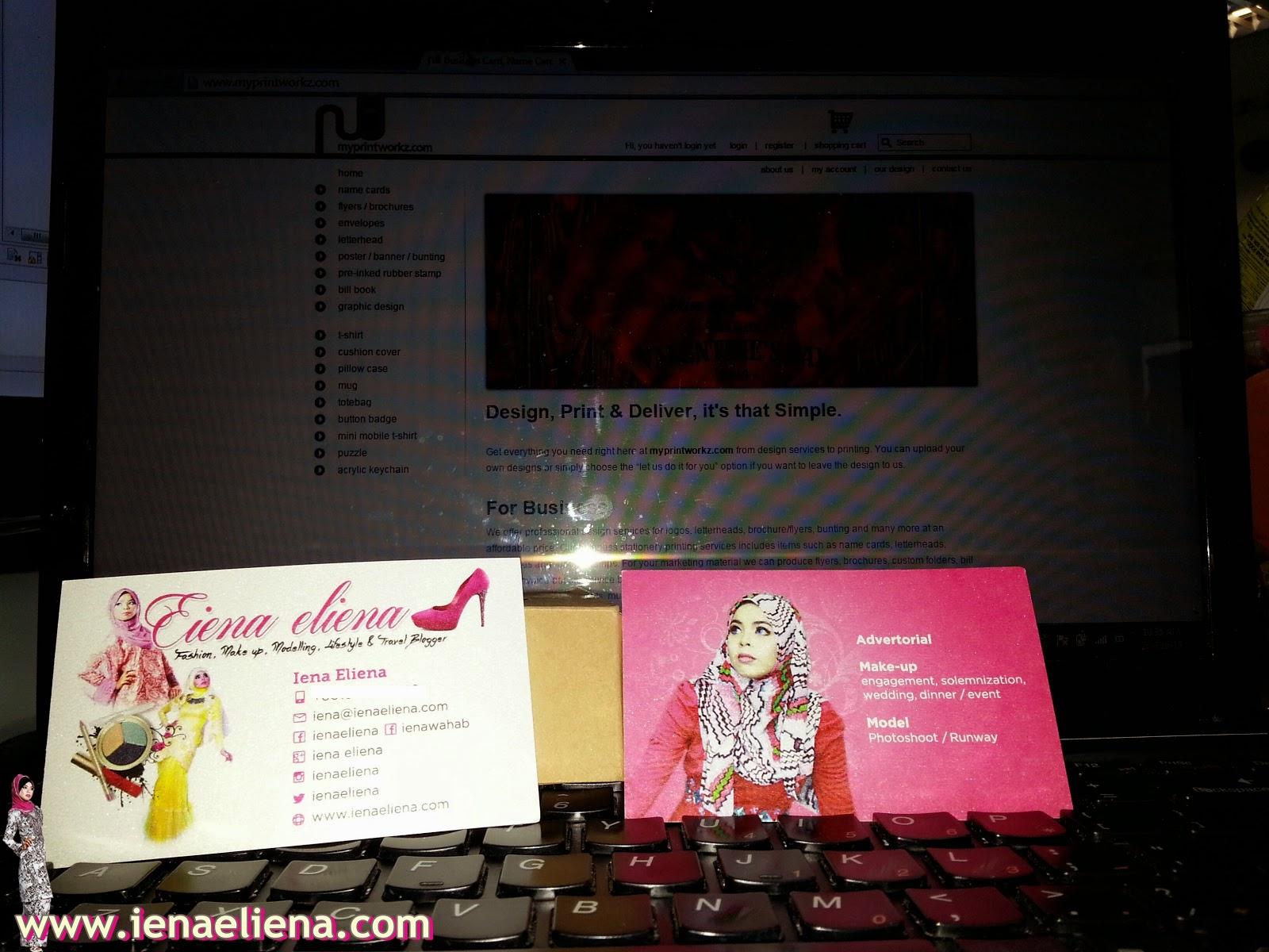 model iena eliena name card, blogger iena eliena name card