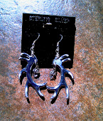 Hand ground aluminum Elk antler earrings