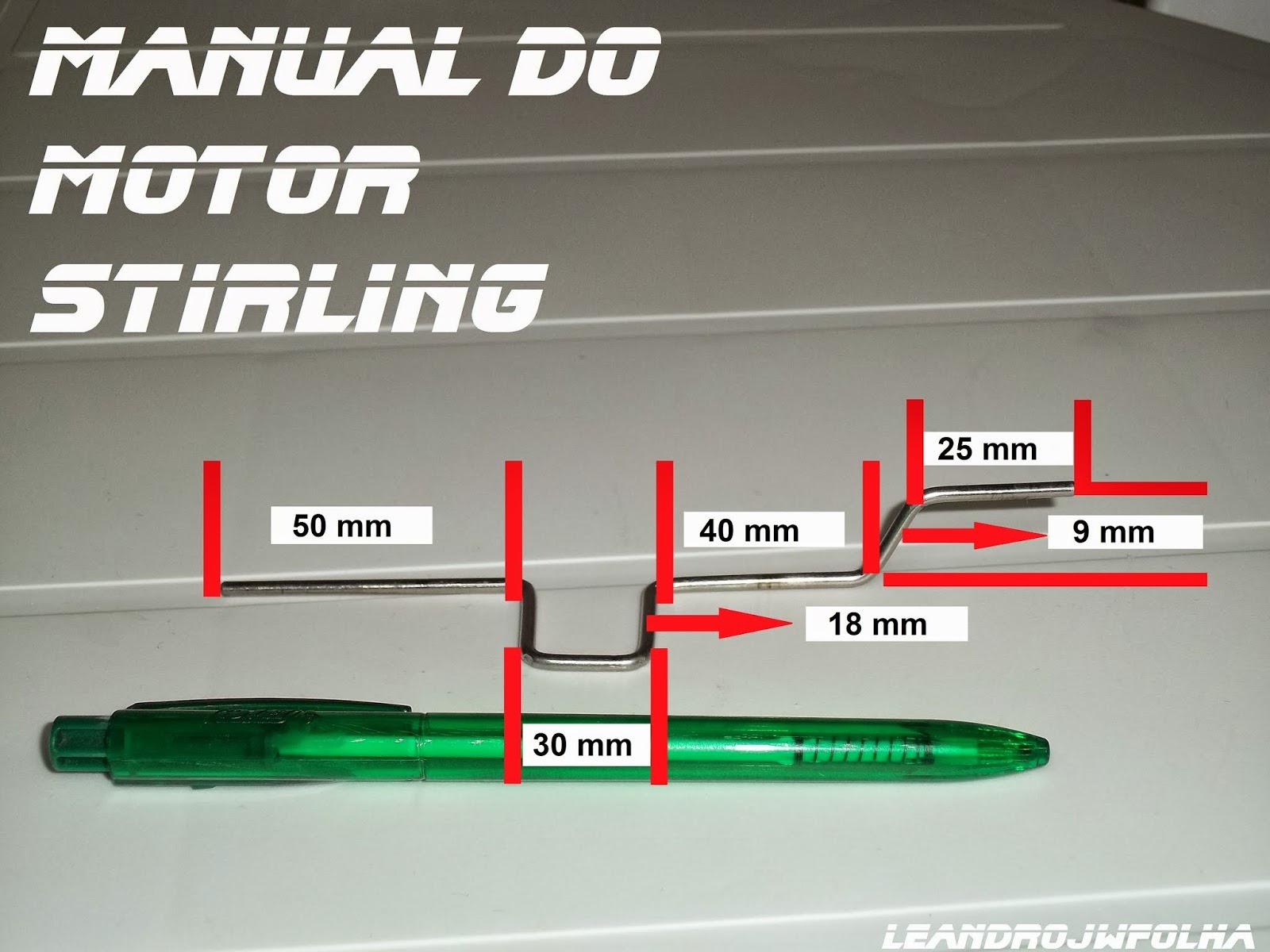 Medida do virabrequim do tutorial do motor stirling gama em latas de alumínio