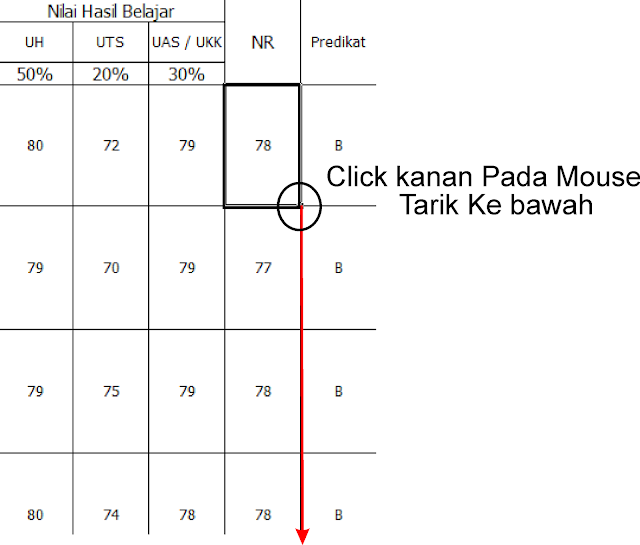 Raport dengan Excel