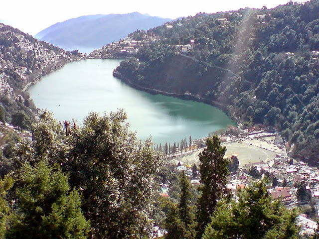a view of Nanital town or wallpapers and pictures