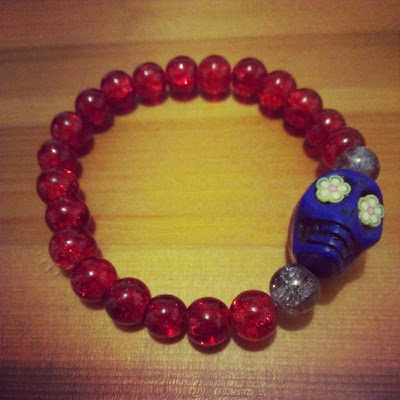 Sugar skull bracelet Love Wings UK review
