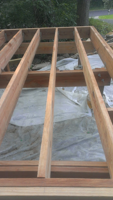 Completed joists.