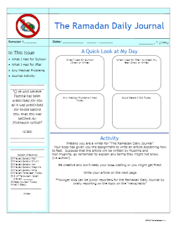 Ramadan Daily Journal