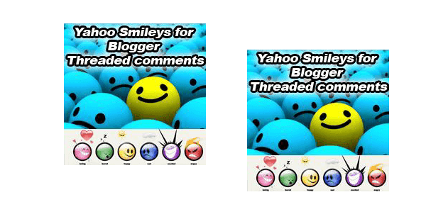 Yahoo Smileys on Blogger Threaded Comments