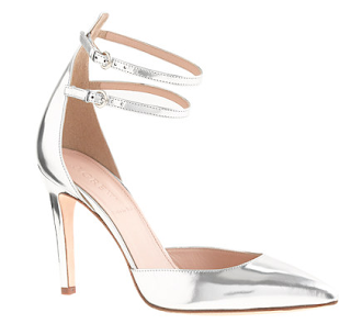 J.Crew, shoe, fashion, metallic