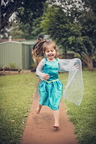 photo of child running