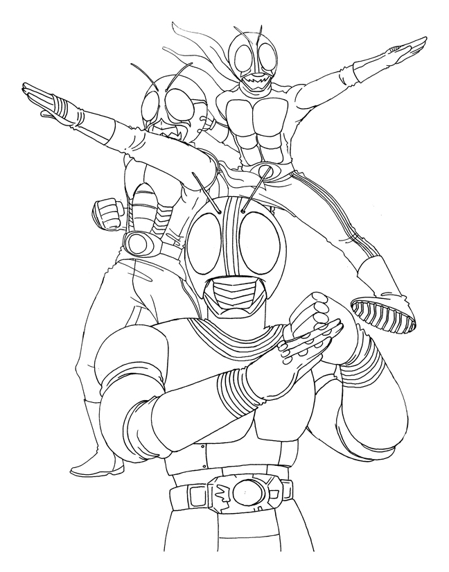 kamen rider coloring pages - photo#30