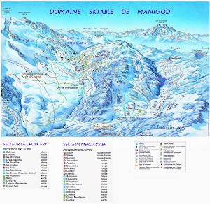 Col de Merdassier Ski trail map