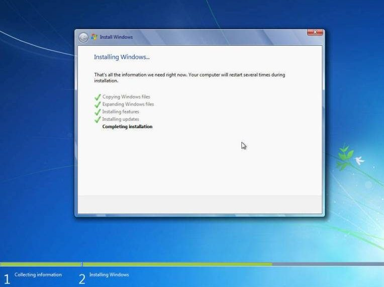 menyempurnakan install windows 7