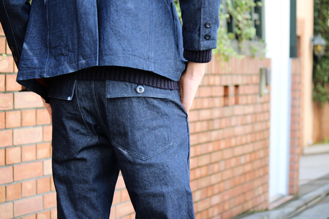 nisushotel 3btn denim blazer denim baker pants madeinjapan 14fw greenangle
