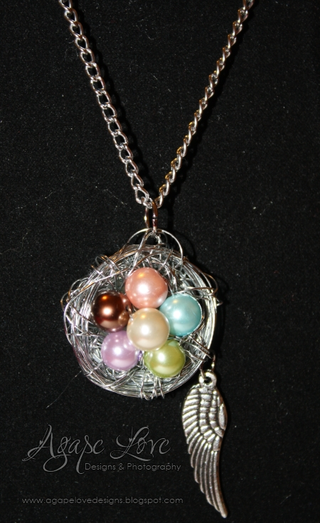 crafty jewelry: mother&#8217;s day birds nest neclace {tutorial}