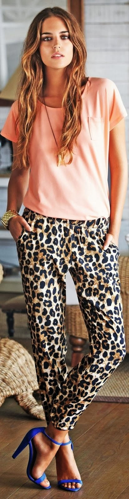 Cheetah Skin Pajamas and Pink Shirt