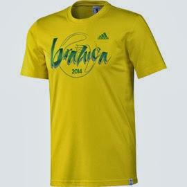 camiseta Brazuca 2014 Balón Mundial Brasil adidas