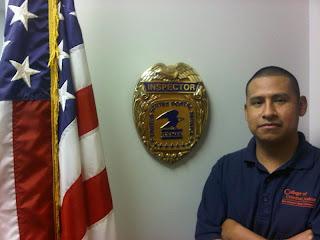 Miguel Sanchez, intern for Inspector General of the U.S. Postal Service