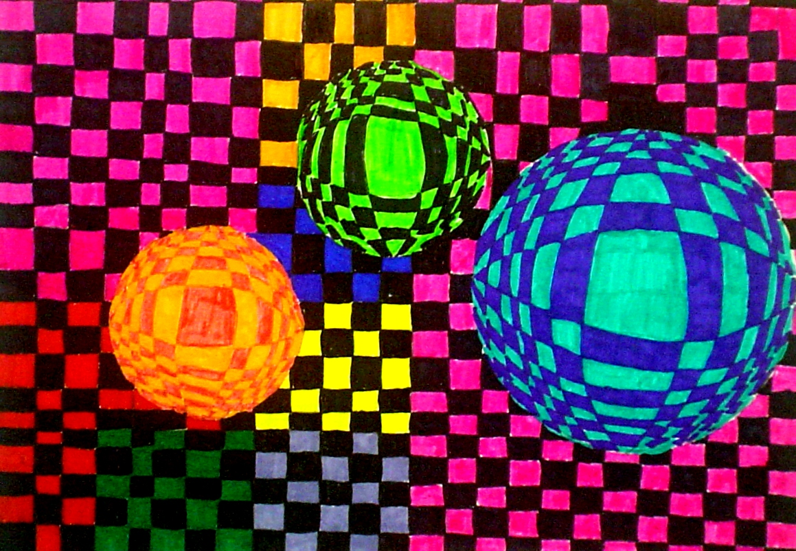 Op art uses color to create - The Art I Students Have Been Studying The Op Art Movement A Movement In The 1960 S Emphasizing Precision And The Careful Use Of Colors In Order To Present