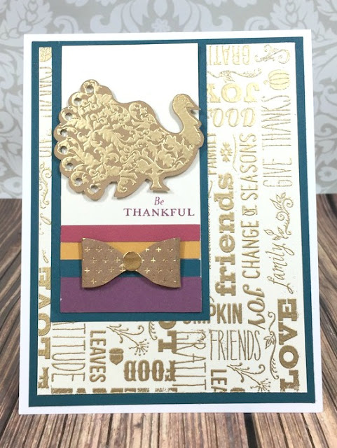 Cricut Artiste Thankful Turkey card